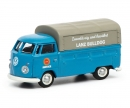 """VW T1c pick-up with tarpaulin """"Lanz"""", blue, 1:87"""
