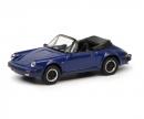 schuco Porsche 911 Carrera 3.2 Cabriolet, blue, 1:87