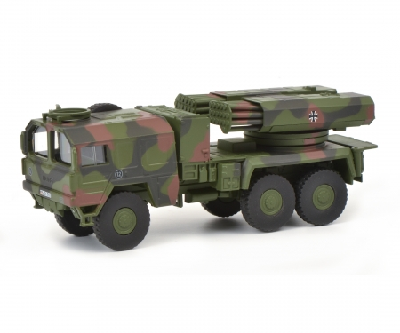 """schuco MAN 7t gl KAT1 rocket launcher Lars II """"Bundeswehr"""", 1:87"""
