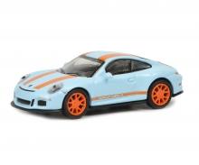 schuco Porsche 911 R, gulfblau orange, 1:87