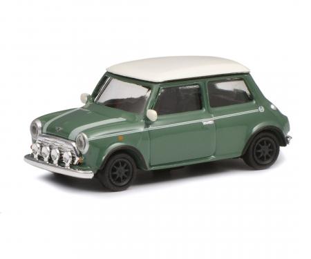 schuco Mini Cooper, green white, 1:87