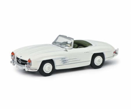 Mercedes-Benz 300SL Roadster, white, 1:87