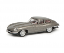 Jaguar E-Type Coupé, grau, 1:87