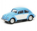 schuco VW Beetle, blue white, 1:87