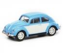 schuco VW Käfer, blau weiß, 1:87
