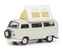 schuco VW T2a Camping Bus with open roof, grey white, 1:87