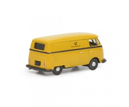 """VW T1c box van """"Deutsche Bundespost"""", yellow black, 1:87"""