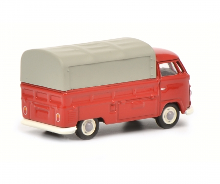 VW T1b pick-up with tarpaulin, red, 1:87