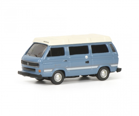 "schuco VW T3b ""Joker"" Camping Bus, blau, 1:87"
