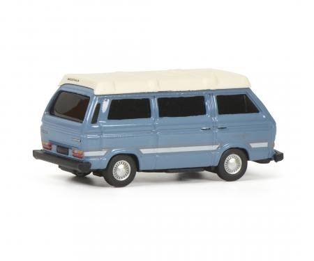 """schuco VW T3b """"Joker"""" Camping Bus, blue, 1:87"""