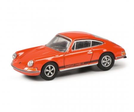 schuco Porsche 911S, orange 1:87