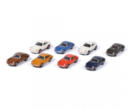 schuco Porsche 911, 8-er Set 1:87