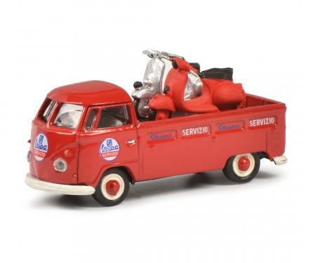 schuco VW T1 Servizio Vespa 1:87