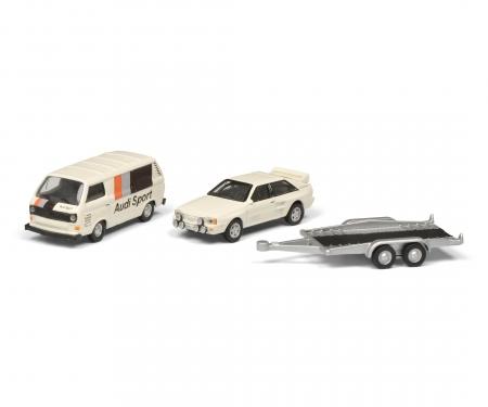 schuco VW T3c AUDI SPORT w.trailer 1:87