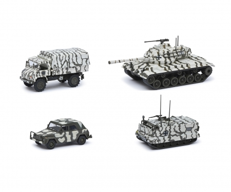 schuco Set winter camouflage 1:87