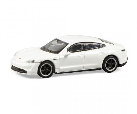 schuco Porsche Taycan, white 1:87