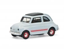 schuco Fiat 500 Sport blue/grey 1:87