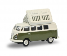 schuco VW T1c Campingbus grün/weiß 1:87