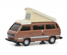 schuco VW T3b Campingbus braun 1:87