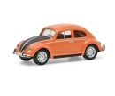 schuco VW Beetle orange/black 1:87