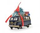 schuco MHI VW T1 Samba blue/gold 1:87