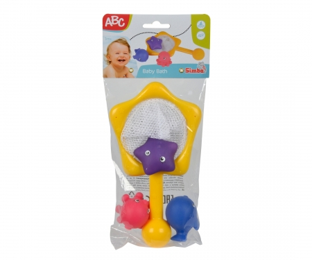 simba ABC Bathtime Animals with Net, 3-ass.