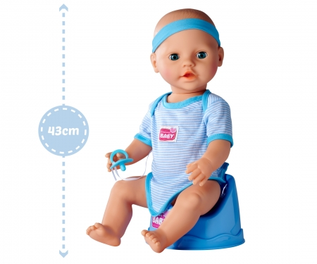 simba New Born Baby Baby Doll, Blue Accessories