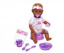 simba New Born Baby Babypuppe, Violettes Zubehör