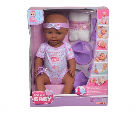 simba New Born Baby Ethnic Doll