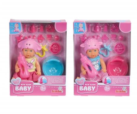 simba Mini New Born Baby Animal Friends, 2-ass.