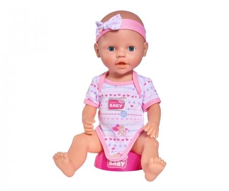 simba New Born Baby Babypuppe, Rosa Zubehör