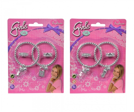 simba Steffi LOVE Girls  Ring and Bangle Set, 2- ass.