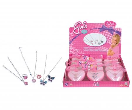 simba Steffi LOVE Girls Ring + Halskette, 3-sort.