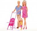 simba Steffi Love famiglia (Steffi incinta, Kevin, Evi)