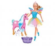 simba Steffi Love Welcome Unicorn, incluso Unicorno mamma e unicorno baby cambiacolore