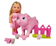 simba Evi Love Welcome Piggies, inclusa mamma e 5 piccoli maialini