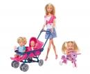 simba Steffi Love Baby World (inclusi Steffi, Evi, Timmy, bebè)