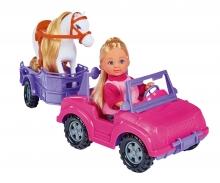 simba Evi Love con Jeep, rimorchio e pony