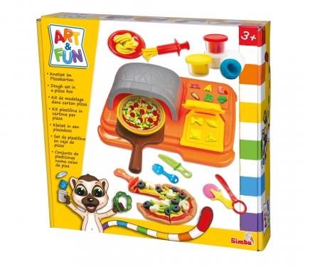 simba Art & Fun Knetset Pizzakarton