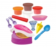 simba Art&Fun Pasta da modellare crea gelati, inclusa pressa per cialde, vasetti 4x55 g ed accessori