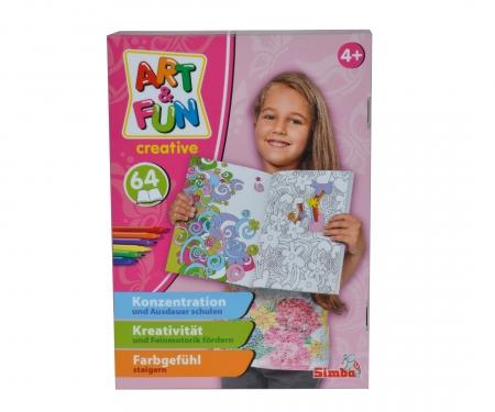 simba Art&Fun Color me Malbuch Mädchen