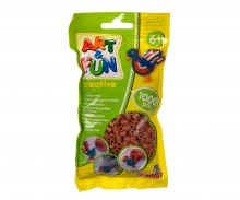 simba Art & Fun 1.000 Ironing Beads in Bag brown