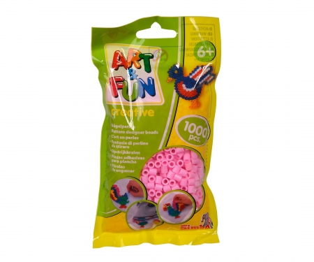 simba Art & Fun 1.000 Ironing Beads in Bag pink