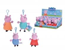 simba Peppa Pig Plüsch Schlüsselanhänger, 4-sort.