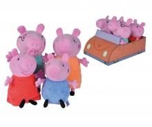 simba Peppa Pig 4-tlg. Familienset im Auto