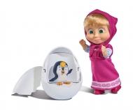 simba Masha Personaggio cm.12 con Pinguino, l'uovo si schiude e il pinguino salta fuori