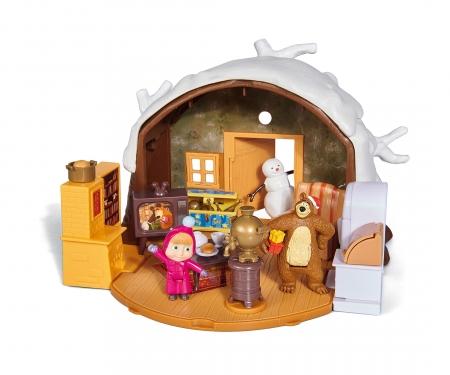 "simba Masha Play Set ""Winter Bear's House"""