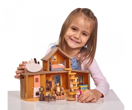 "simba Masha Play Set ""Big Bear House"""