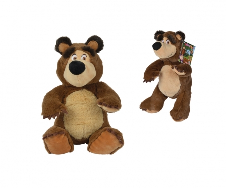 simba Masha Bean Bag Bear, 20cm, sitting