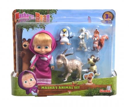 simba MASHA 12 CM CON ANIMALES